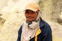 Ijen Volcano Indonesia Sulfur