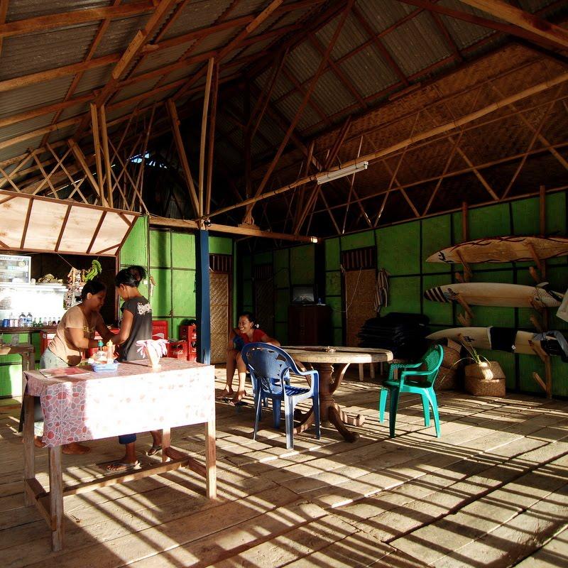 inside warung balangan beach bali