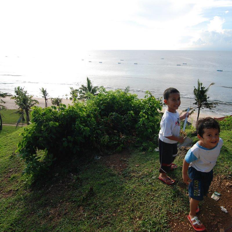 local kids at balangan beach bali
