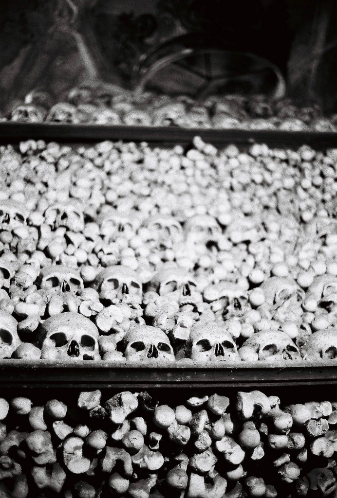pile of bones at Sedlec Ossuary, Czech Republic