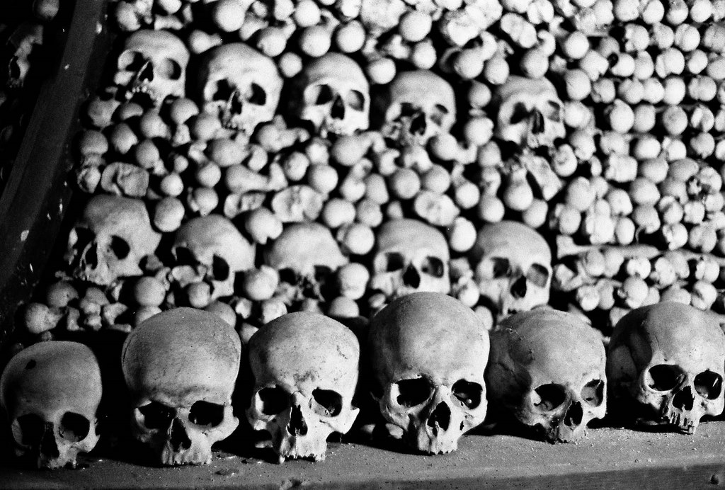plague victims, Sedlec Ossuary, Kutna Hora, Czech Republic - The Bone Church