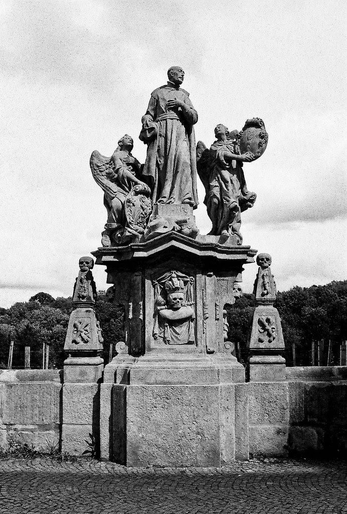 statue near Saint Barbara, Czech Republic