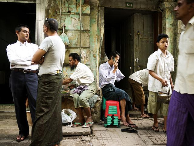 street scene myanmar burma rangon yangoon