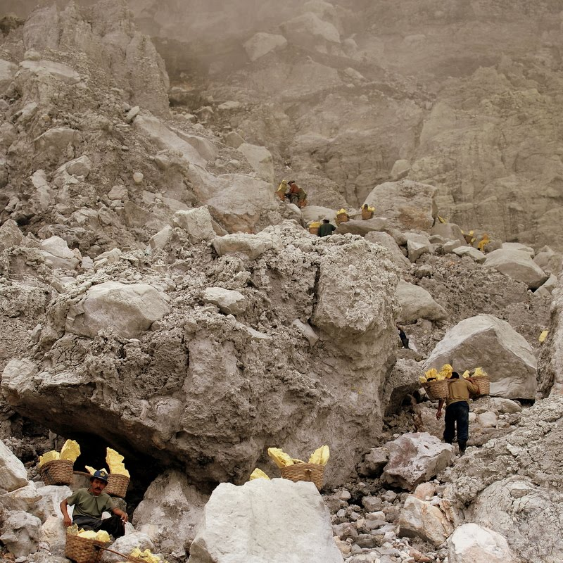 sulphur miners indonesia