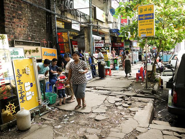 yangon myanmar street photography