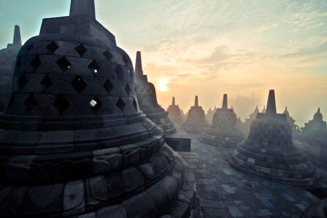 borobudur indonesia sunrise