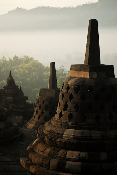 Borobudur Indonesia, good even after the sunrise