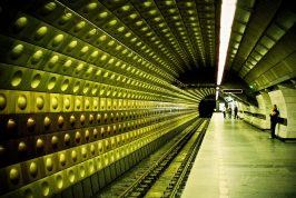 prague metro interior - best travel camera