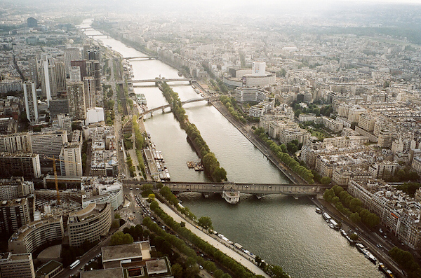 view from eiffel tower paris