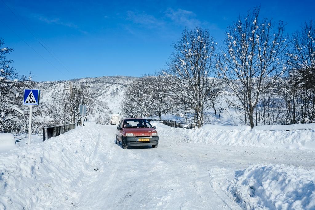 Akhaltsikhe georgia - deep in snow