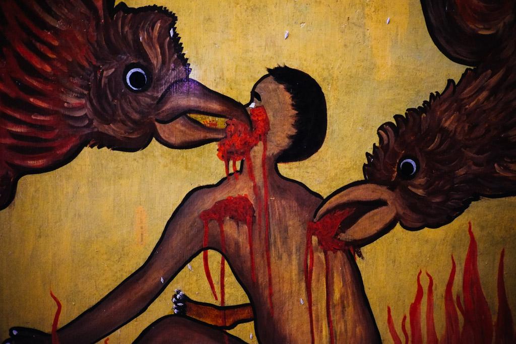 buddhist chicken hell, Sri Lanka
