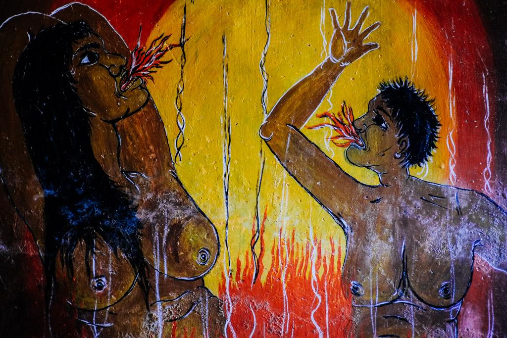 Burning in Buddhist Hell, Sri Lanka.