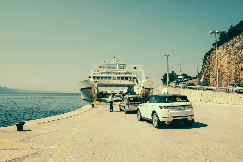 With a car, this is the only way off the island of Mali Losinj, and back to the mainland of Croatia