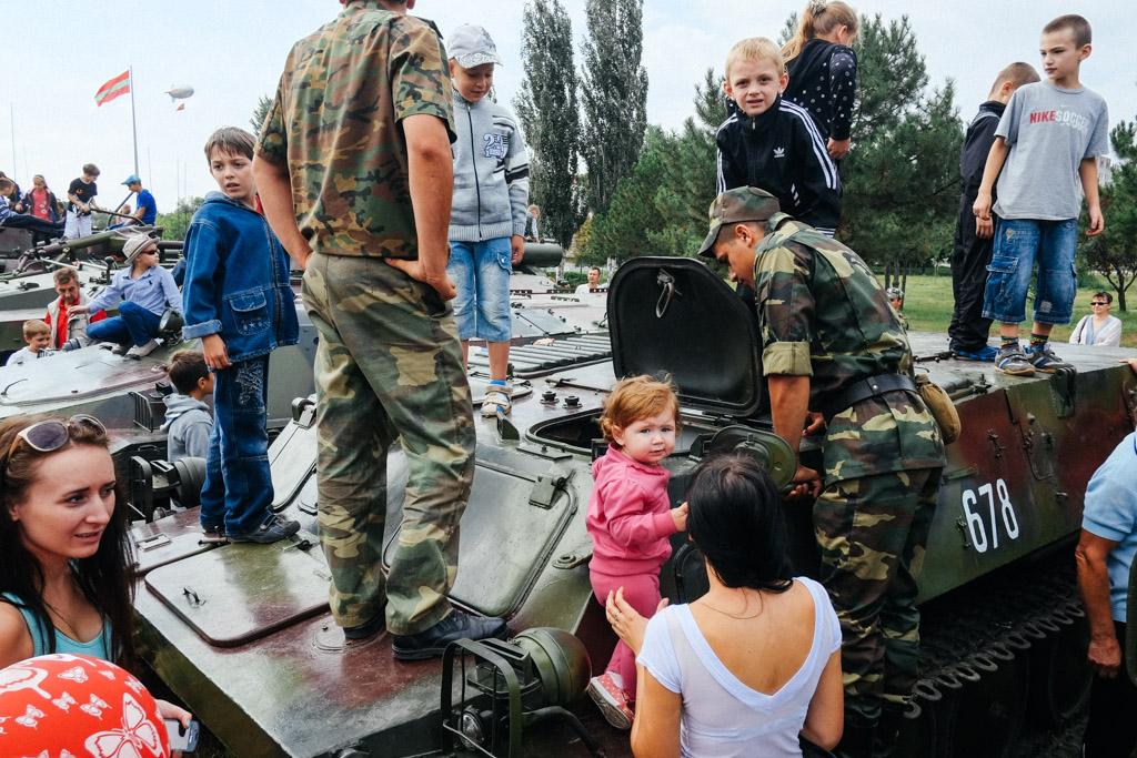 There are children in there. Tiraspol, Transnistria.