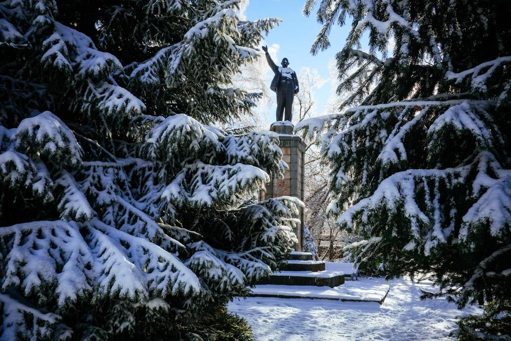 Lenin statue Bishkek Kyrgyzstan