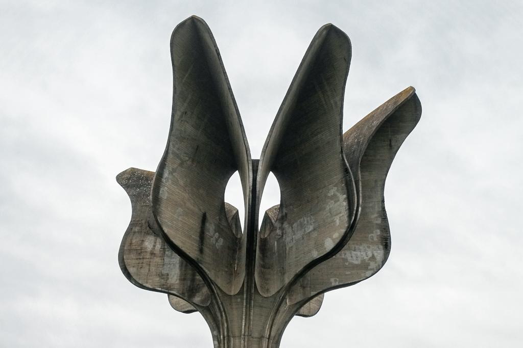 Jasenovac Flower spomenik Yugoslavian monuments