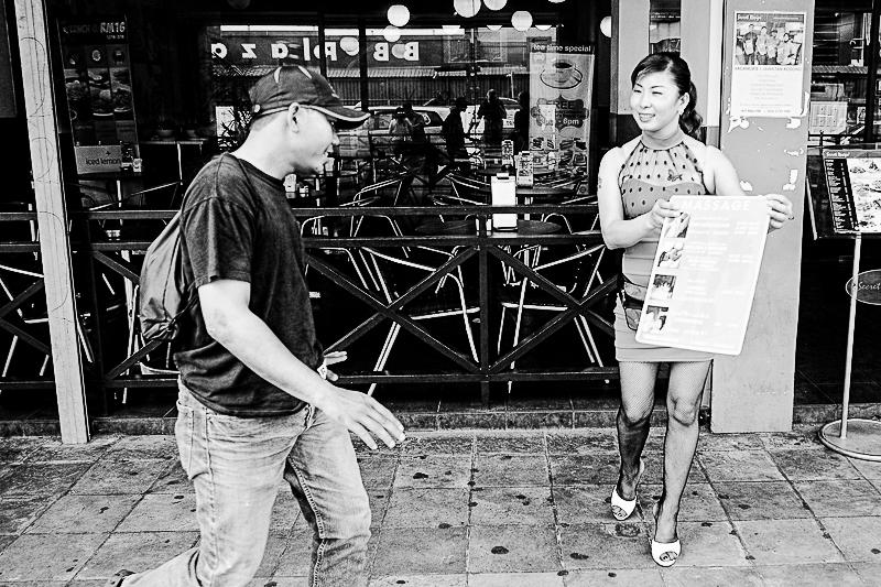 KL street photography - massage? No thanks!