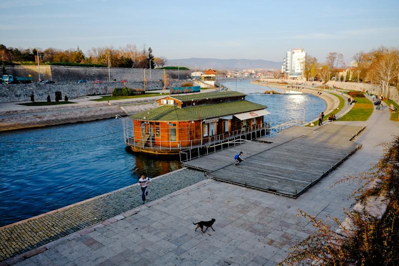 Nišava River, Nis Serbia.