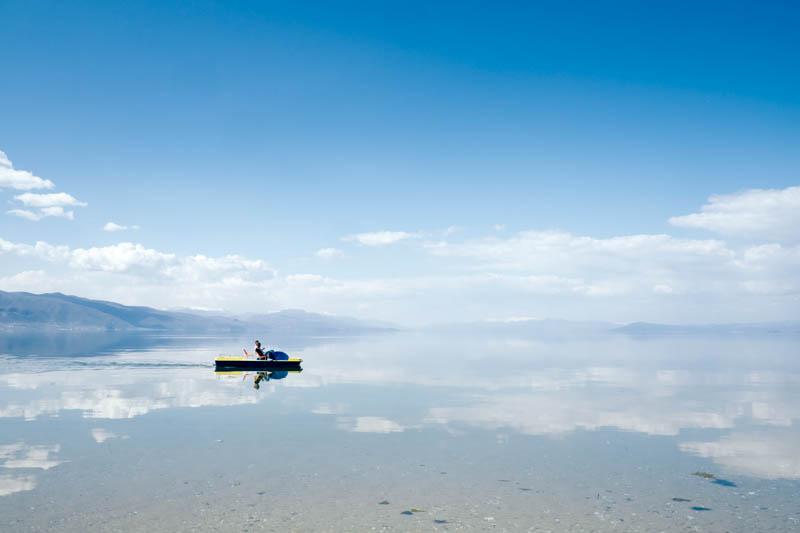 Progradec Lake Ohrid view, Albania