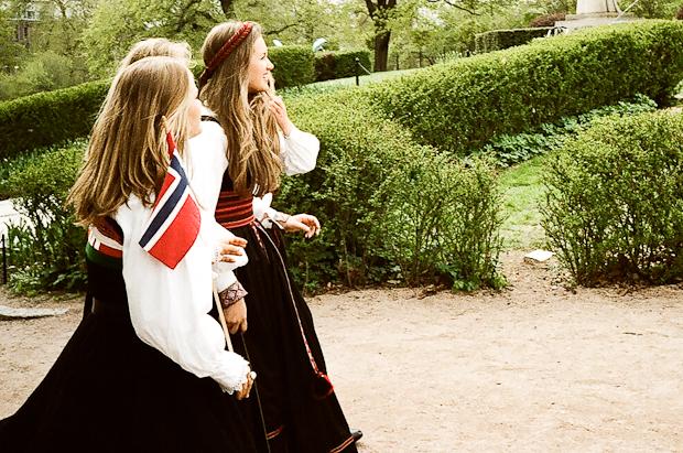Pretty Norwegian girls on National Day