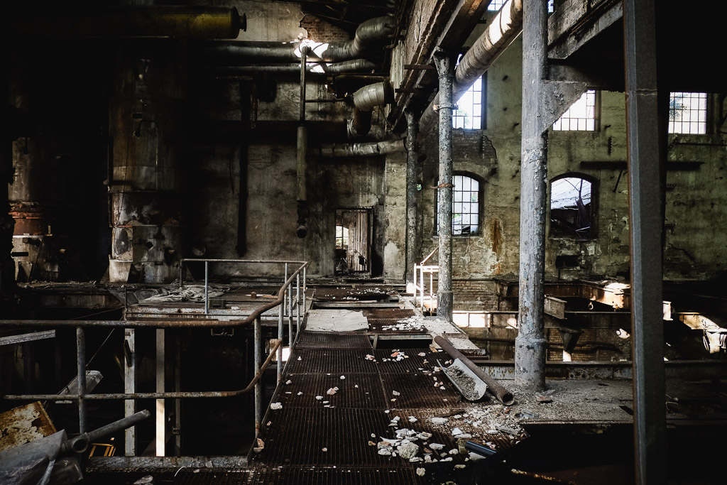 Abandoned building in Belgrade, Serbia.