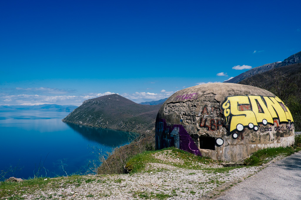 abandoned bunker ohrid macedonia