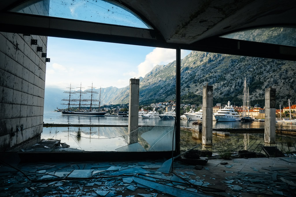 abandoned hotel fjord kotor