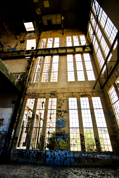 abandoned power station building