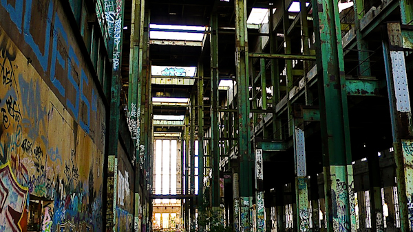 abandoned power station interior