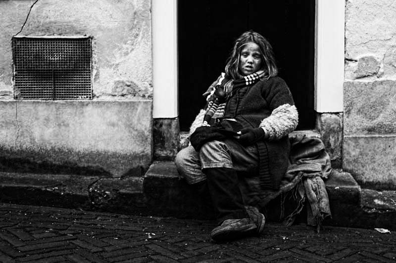 She got that little bit more sickly and more destitute when she saw the camera. Dickens Festival, Deventer, 2012.