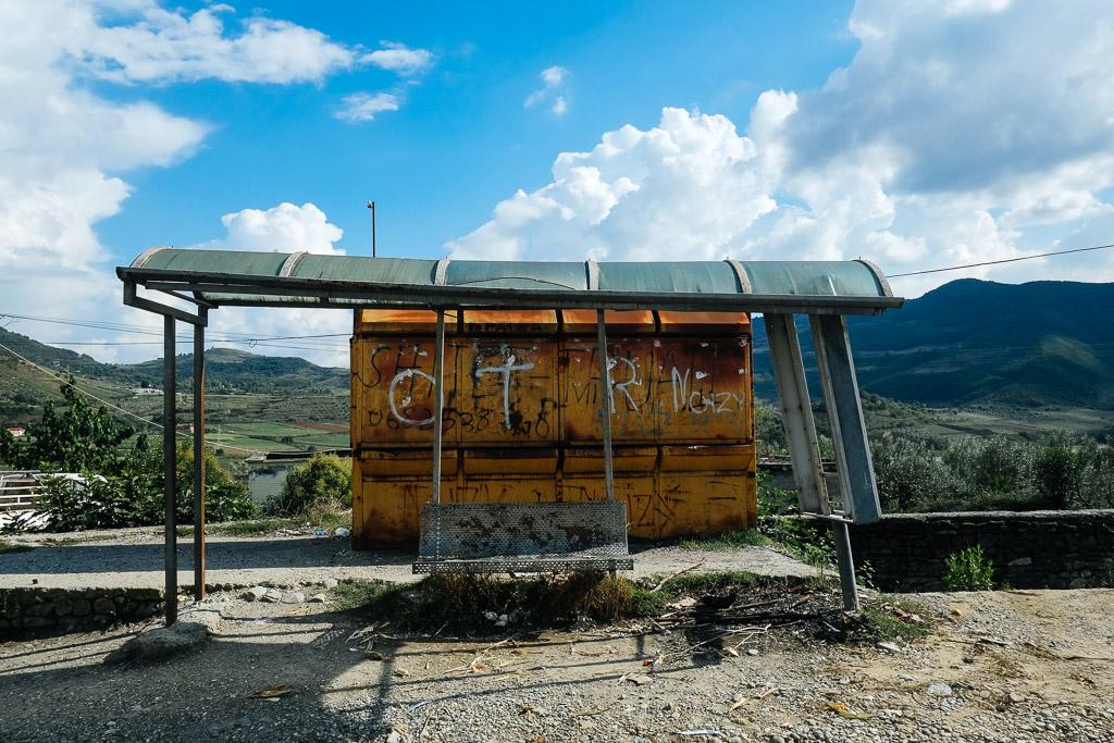 albanian bus stop