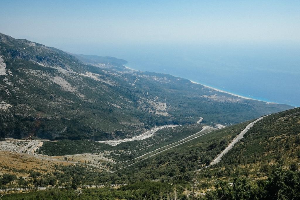 albanian riviera road