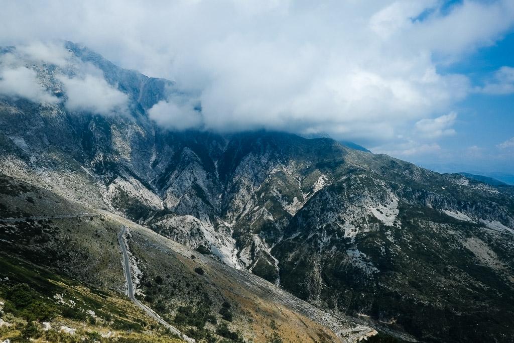 albanian roads dhermi
