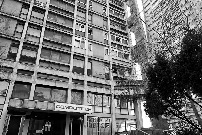 Communist era apartment buildings in Croatia
