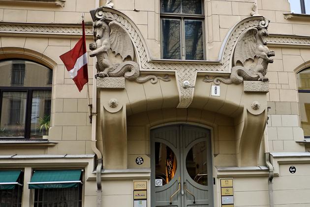 Nice front door  - Riga - Latvia
