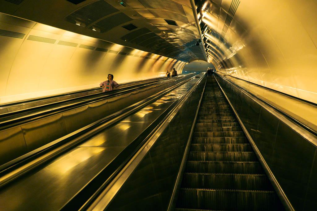 Belgrade underground train station.