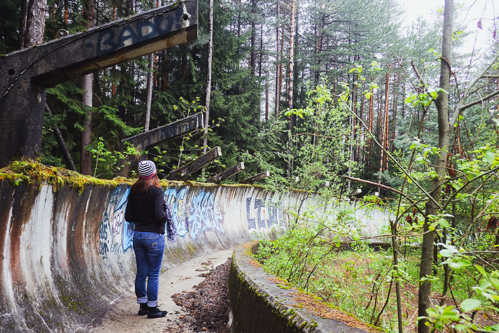 abandoned bob sled track sarajevo