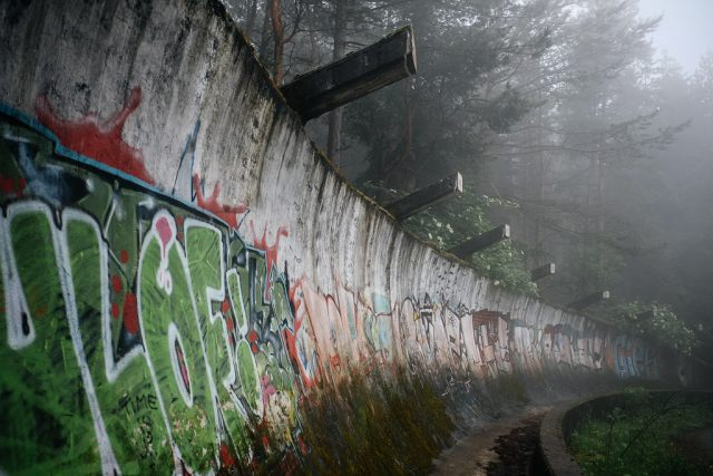 mount Trebevic bobsled track sarajevo