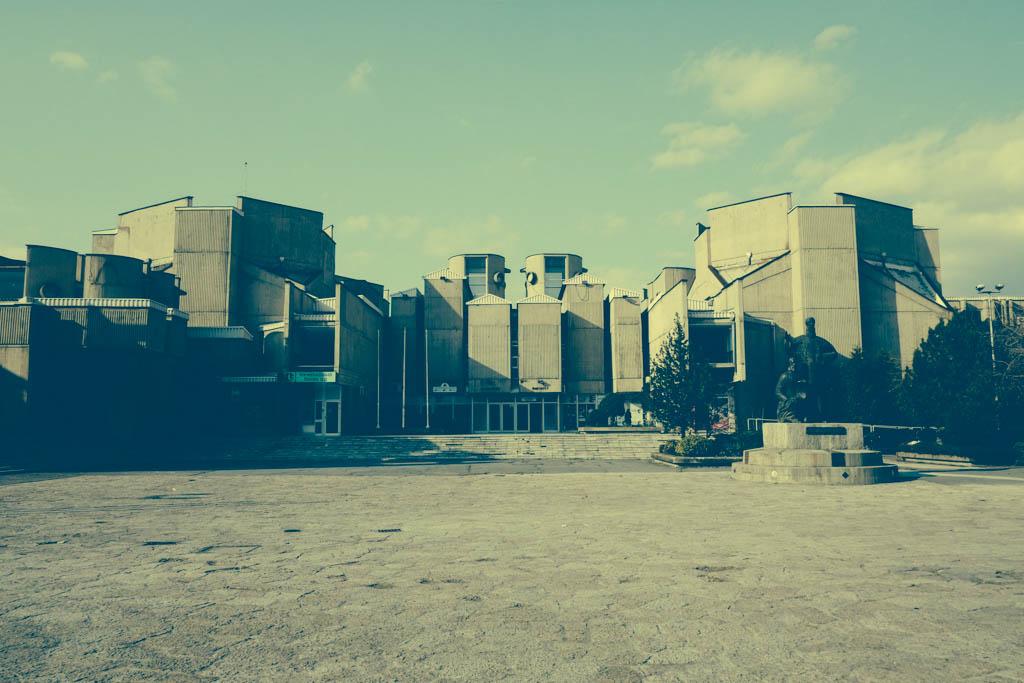 brutalist university skopje 2