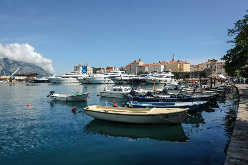 boats at budva, montenegro