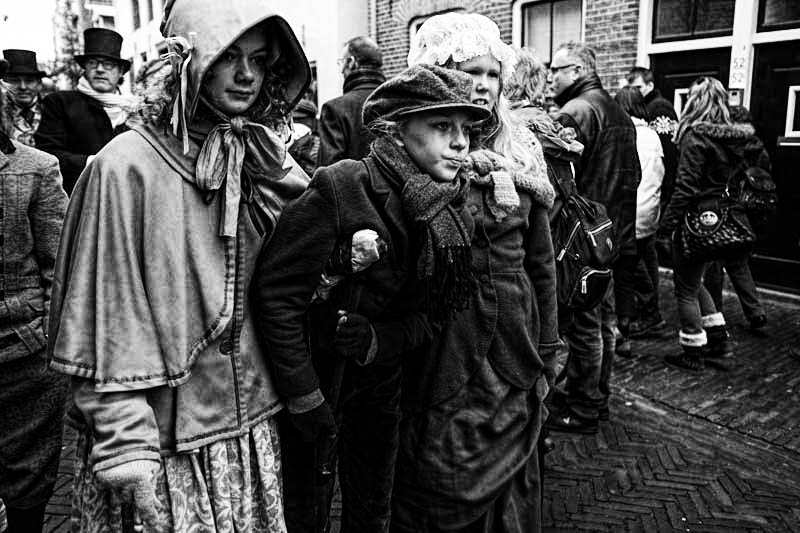 This girl had it nailed. A look of frail determination. Deventer Dickens Festival, 2012.