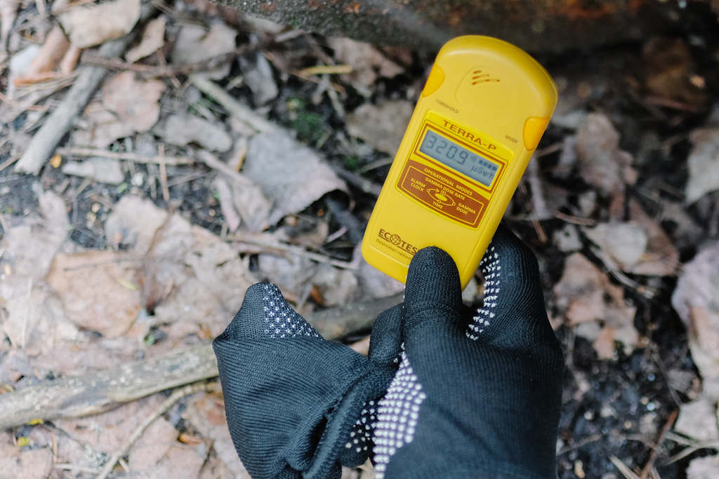 chernobyl tour radiation meter