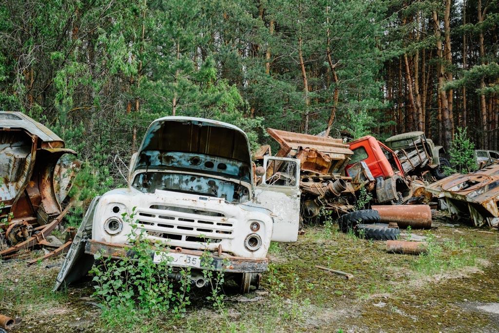 chernobyl truck graveyard