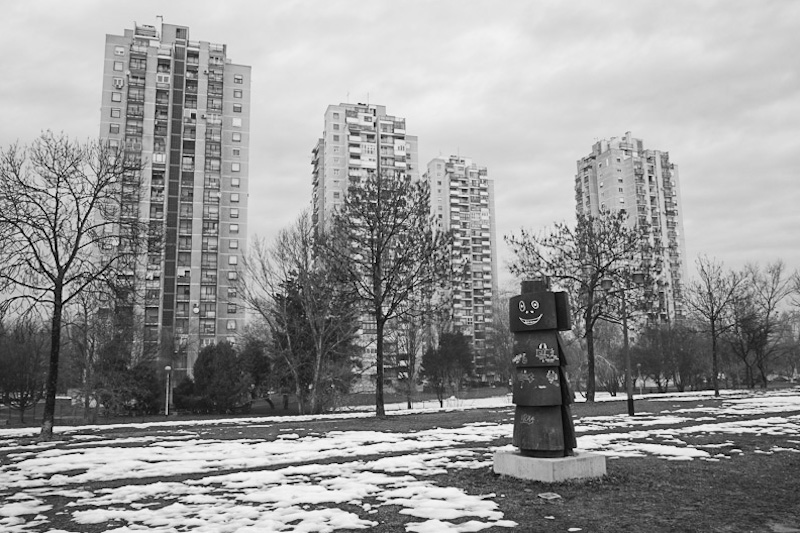 Commie blocks. Communist architecture of Zagreb.