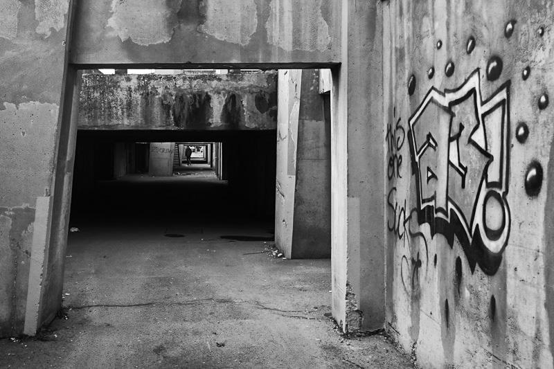 Rocket building - Concrete brutalism of communist Crotia