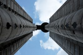 Communist Architecture Pin-Up Tower. Genex Tower, New Belgrade.