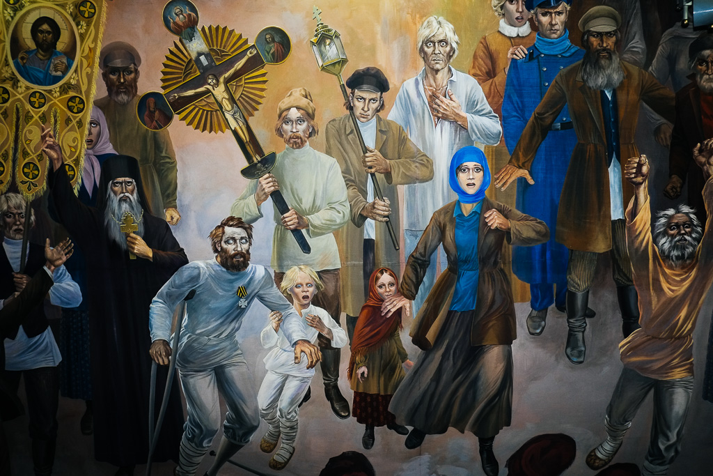 bishkek historical communist mural