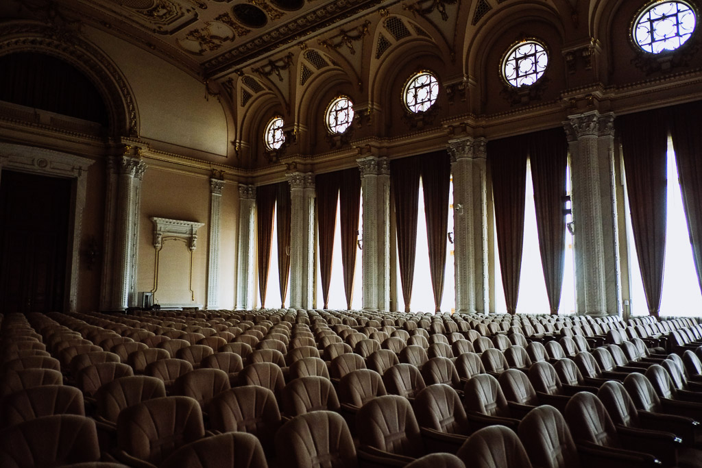 communist meeting room architecture