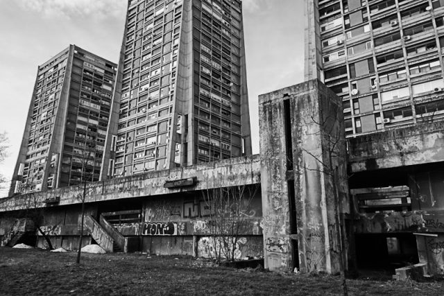 Brutal communist era architecture, Croatia