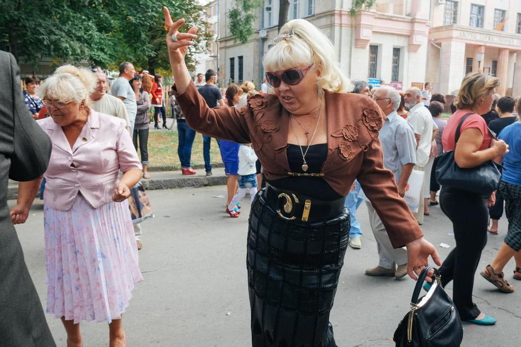 Dancing in the streets, Tiraspol.